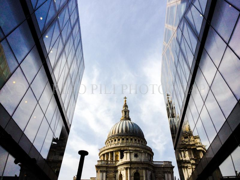 London's Saint Paul's Cathedral from One New Change