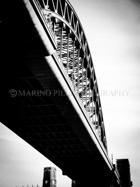 The Tyne Bridge in noir