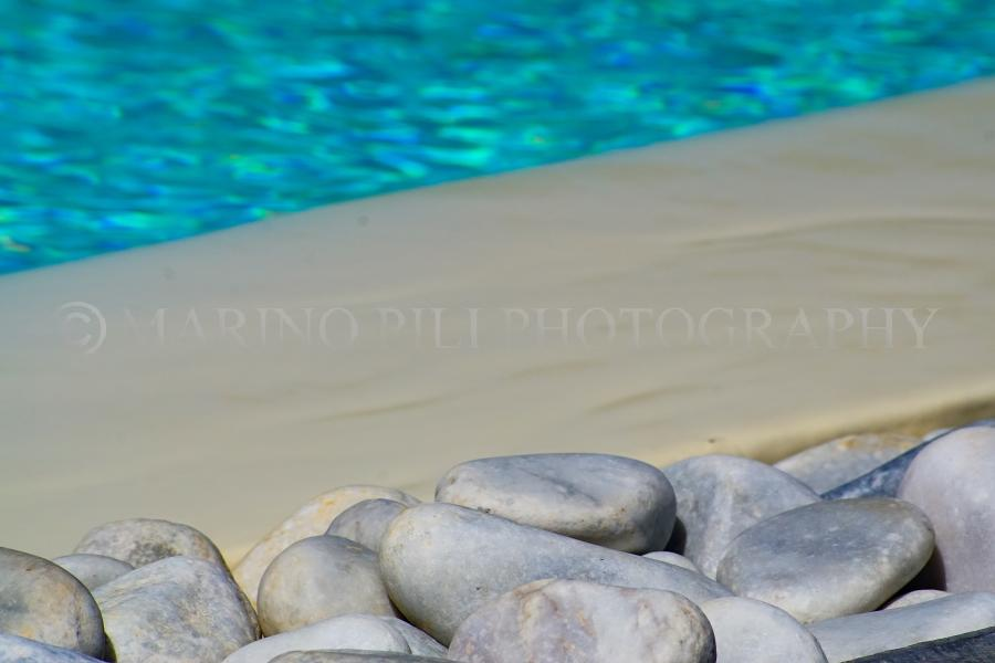Pebbles by the pool