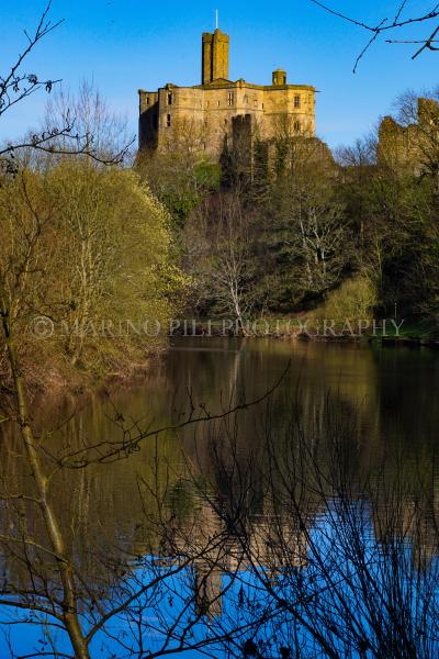 Warkworth Castle reflection